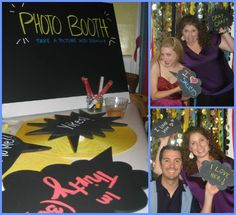 Chalkboard Photo Booth Signs for Birthday Party