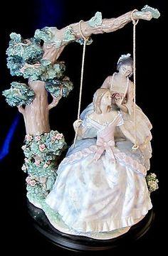 Lladro 1868 A Quiet Conversation Brand Ladies Swing Flowers Limted Free   eBay