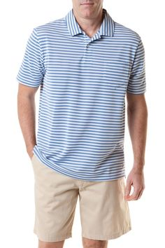 8e861c4b5d4 Castaway Men s Salt Spray Polo - Navy Stripe
