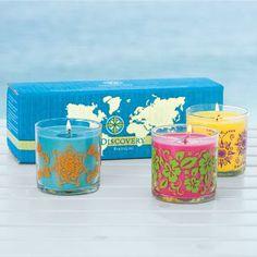Discovery by PartyLite™ Pienet kynttiläpurkit trio 47,90€/3 kpl  Ihanat tuoksut Japanin Yuzu (kuvasta poiketen), Costa Rican kultahedelmä ja Hawaijin Hibiscus  Shop online: www.tanjasavela.partylite.fi