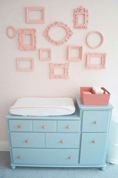 Baby room.. - she wants the frames in different colors
