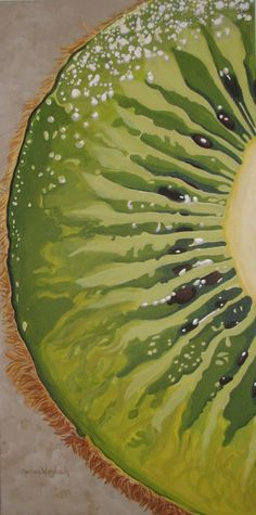 Slice of Kiwi Green von Marlane Wurzbach - Illustrations - good recipe - Obst Arte Gcse, Gcse Art, Fruit Painting, Food Art Painting, Paintings Of Food, Pop Art Paintings, Art Doodle, Natural Form Art, Natural Forms Gcse