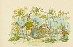 Ernst Kreidolf (1863-1956), Schweizer Illustrator: Blumen-Märchen. Köln, Schaffstein (um 1900)