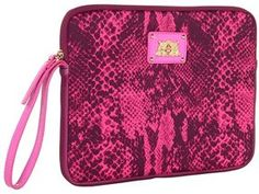 shopstyle.com: Juicy Couture - Python Snake Tablet Wristlet (Hot Pink) - Bags and Luggage