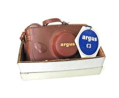 Argus C3 The Brick Vintage Camera in Case and Box by worldvintage