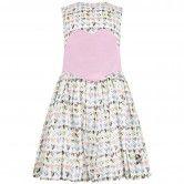 Jessie & James Girls White & Pink Marble Hearts Dress