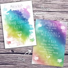 Quirky wedding stationery for the bride and groom who like to do things differently.  www.satinandtat.co.uk