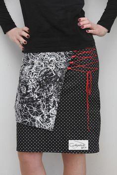 Ma zolie Zupe Custo #diy #tuto #tutoriel #tutoriales #modele #coutureaddict #couture #coutureaddict #couturefacile #femme #mode #tendance #originaldesign #unique #facile #homemade #woman #coudre #printemps #skirt #jupe #jupetrapeze #patchwork