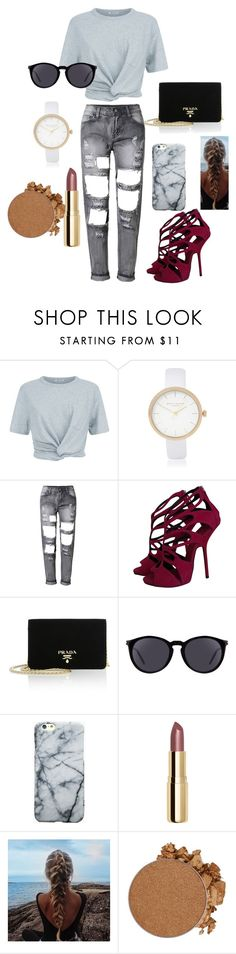 """""""to classic"""" by lida4-548 ❤ liked on Polyvore featuring T By Alexander Wang, River Island, Giuseppe Zanotti, Prada, Yves Saint Laurent, H&M and Anastasia Beverly Hills"""