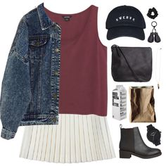 College's Story by tania-maria on Polyvore featuring Monki, Lipstik, Pieces…