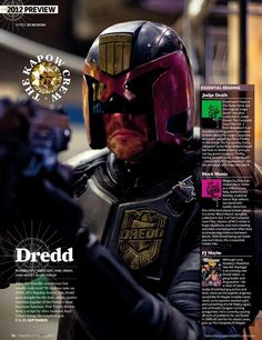 A new photo of Karl Urban as as seen as the title character in Pete Travis' Dredd has just been unveiled in the latest issue of Total Film.