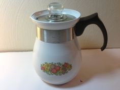 Corning Ware Spice of Life Coffee Percolator P166 by BeyondTheJunk, $24.99