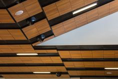 Metal Ceilings - Woodwright Gladius Panels from Hunter Douglas Contract