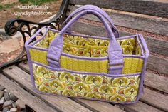 DIY Catch All Caddy pattern perfect for all sorts of notions and tools. Great sewing project. Handmade craft. #catchallcaddy #softandstable