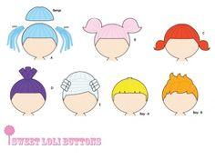 dolly rag doll hair sewing patterns lalaloopsy pdf pattern download
