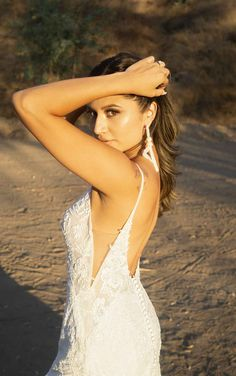 Sexy Organic Lace Wedding Dress with Sparkle Elements - Martina Liana Wedding Dresses Wedding Dresses With Straps, Designer Wedding Dresses, Couture Wedding Gowns, Lace Bodice, Dream Dress, Bride, Beaded Lace, Spaghetti Straps, Floral Lace