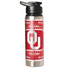 Great American Products NCAA 20 oz. Double Wall Stainless Steel Water Bottle with Metallic Graphics - Oklahoma Sooners