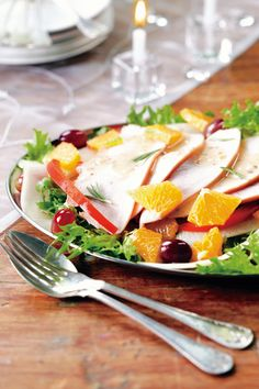 Kalkkuna-appelsiinisalaatti   K-ruoka #sitrushedelmät