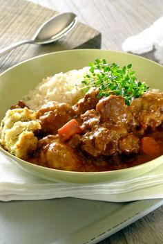 Slow-Cooked Oxtail Stew with Dumplings - the ultimate cold-weather comfort food. #Knorr