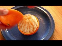 Orange to go - How to peel an orange in an easy way - YouTube