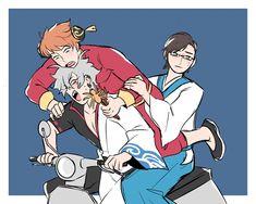 Gintama, Anime Crossover, Rap Battle, Division, Fan Art, Manga, Funny, Illustration, Twitter