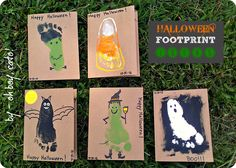 Halloween Footprint Art #crafts