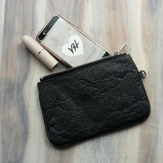 Kate - Piñatex zip pouch made from vegan pineapple leather - www.velvetheartbeat.com Pineapple Leather, Fashion Bags, Fashion Accessories, Leather Pouch, Kate Moss, Ethical Fashion, In A Heartbeat, Pouches, Cork