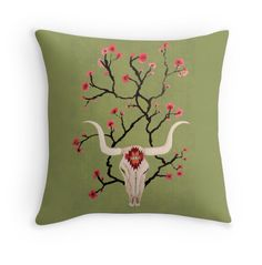 boho pillow by Sylvie Demers on Redbubble.com