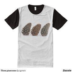 Three pinecones All-Over-Print T-Shirt - Visually Stunning Graphic T-Shirts By Talented Fashion Designers - #shirts #tshirts #print #mensfashion #apparel #shopping #bargain #sale #outfit #stylish #cool #graphicdesign #trendy #fashion #design #fashiondesign #designer #fashiondesigner #style