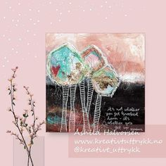 Åshild Halvorsen (@kreativt_uttrykk) • Instagram-bilder og -videoer Bible Art, New Week, Journalling, Art Therapy, Anxious, Canvas, Pretty, How To Make, Painting