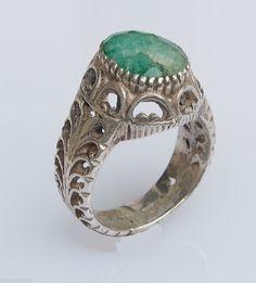 orient massiv silber Grün turmalin Ring tourmaline silver tourmaline green Nr:29
