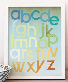Mod Citrus Alphabet Print by Fresh Words Market