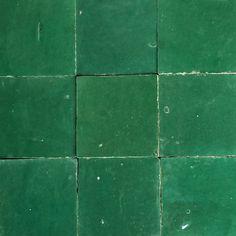 dark green glazed terracotta tile - IN STOCK – Handmade Tiles // Margate Fire Pit Oven, Cabin Porches, Glazed Tiles, Tile Stores, Moroccan Interiors, Vintage Tile, Handmade Tiles, Green Lawn, Wet Rooms