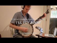 "In this really free (really) lesson, you'll learn an easy bluegrass banjo version of the popular bluegrass standard ""I'll Fly Away."" You'll learn the chord s. Banjo Tabs, Banjo Ukulele, Banjo Boy, Music Sing, Good Music, Man Of Constant Sorrow, Ill Fly Away, Mountain Music, Guitar Pins"