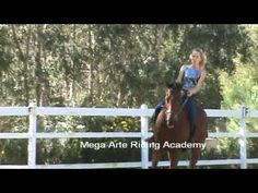 Trainer Meg Brown, on bare-back pad and once warmed up , drops reins and teaches natural horsemanship and the Art of Balance =)
