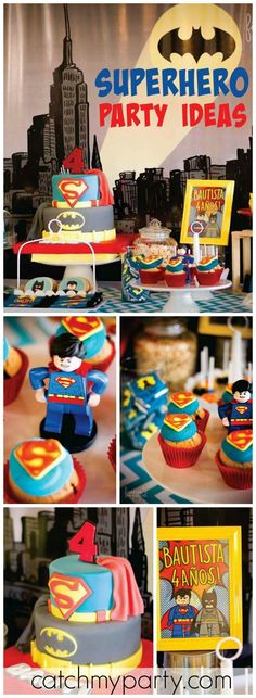 What an awesome Lego superhero party! See more party ideas at CatchMyParty.com!