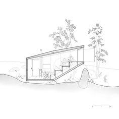 Imagen 11 de 14 de la galería de Refugio del Bosque / Uhlik architekti. Corte 1
