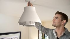 Lamp and ceiling fan combo fits in a standard screw-in light bulb socket