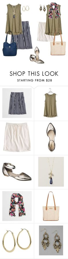 """""""Untitled #723"""" by texasgal50 ❤ liked on Polyvore featuring J.Crew, Banana Republic, Mossimo, Marc Fisher and FOSSIL"""