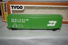 Model Railroads & Trains Other Ho Scale Vintage Tyco Burlington Northern Green 50ft Plug Door Original Box Ho Train