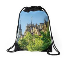 View to the Shamrock Hotel and the Old Town Hall - Bendigo, Victoria Drawstring Bag