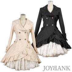 Gothic Lolita Coat. It's scary how much I love these. They're gorgeous  I want them so  bad ;-;