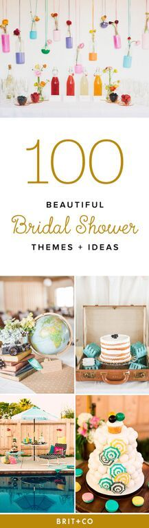 From fancy tea parties to cozy camping trips, here are 100 themes and ideas that brides are bound to love.