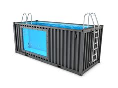 Shipping Container Swimming Pool, Swimming Pools Backyard, Shipping Container Homes, Homemade Swimming Pools, Garden Pool, Retractable Pool Cover, Container Conversions, Stock Tank Pool, Building A Container Home
