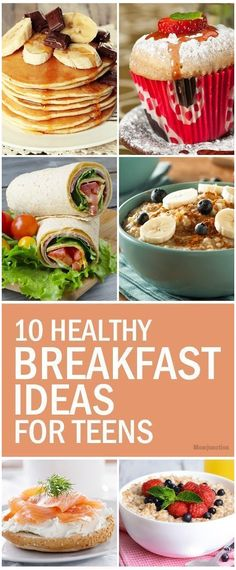 10 Healthy Ideas For Here are ten simple recipes for whipping. 10 Healthy Ideas For Here are ten simple recipes for whipping up the perfect power breakfast for your teen in a jiffy. Go ahead and check them out! Healthy Food List, Heart Healthy Recipes, Healthy Snacks, Simple Recipes, Snacks Recipes, Health Recipes, Eat Healthy, Eat Breakfast, Healthy Breakfast Recipes