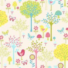 Birdy, tree-y fabric :)