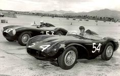 Palm Springs on November, 3rd 1957.  Rod is in Car #54, DB3S Team car 11 and Jan Wells is in car #53, Production car DB3S/104.  Jan came second in the Ladies race and Rod 12th (in the main event).