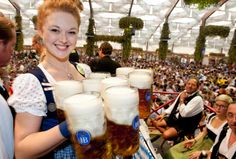 If you are up for some serious drinking then you can't go far wrong by attending the Oktoberfest in Munich. Often copied but never bettered, the Oktoberfest is where it all started and it really is one amazing event which people return to year after year. Beer Festival Germany, San Diego, Oktoberfest Beer, German Oktoberfest, World Festival, Beer Girl, Festivals Around The World, Life List, Before I Die