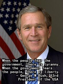 Famous George W Bush quote on liberty.