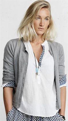 Plus Fine - Marrakech Blouse - White